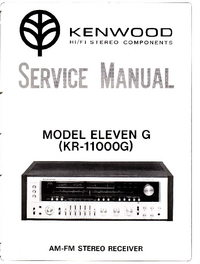 Service Manual Kenwood KR-11000G
