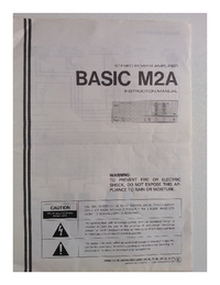 User Manual Kenwood BASIC M2A