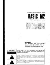 User Manual Kenwood BASIC M2
