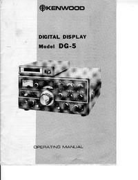 Manual do Usuário Kenwood DG-5