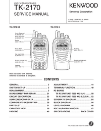 Service Manual Kenwood TK-2170