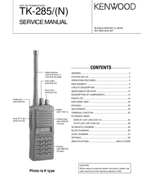 Service Manual Kenwood TK-285/(N)