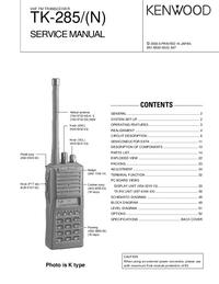 Manual de servicio Kenwood TK-285/(N)