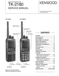 Manual de servicio Kenwood TK-2180 K