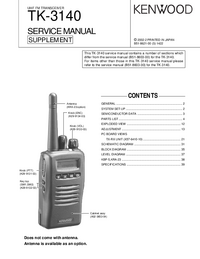 Service Manual Kenwood TK-3140