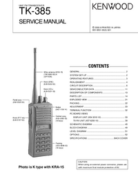 Service Manual Kenwood TK-385