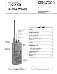 Manuale di servizio Kenwood TK-385