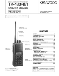Manual de servicio Kenwood TK-480