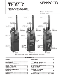 Manual de servicio Kenwood TK-5210 K