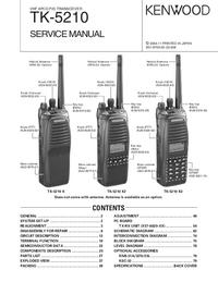 Manuale di servizio Kenwood TK-5210 K2