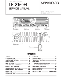 Manual de servicio Kenwood TK-8160H