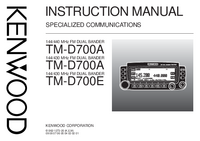 Manuale d'uso Kenwood TM-D700E