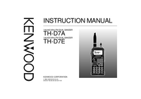 User Manual Kenwood TH-D7E