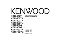 User Manual Kenwood KDC-F327G