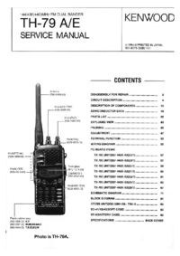 Service Manual Kenwood TH-79 A