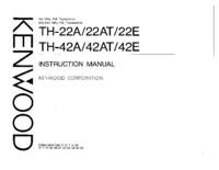 User Manual Kenwood TH-22A