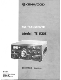 User Manual with schematics Kenwood TS-520S