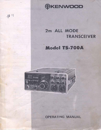 User Manual Kenwood TS-700A