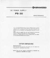 Serviço e Manual do Usuário Kenwood PS-30