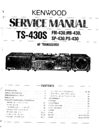 Manual de servicio Kenwood FM-430