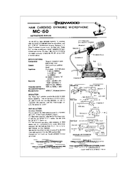 Service and User Manual Kenwood MC-50