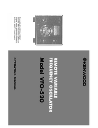 Manual del usuario, Diagrama cirquit Kenwood VFO-520