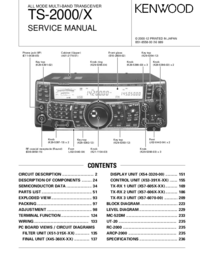 Service Manual Kenwood TS-2000/X