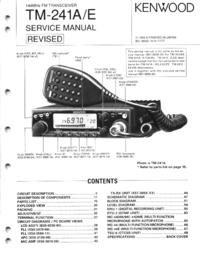 Руководство по техническому обслуживанию Kenwood TM-241A