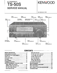 Service Manual Kenwood TS-50S