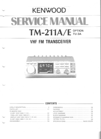 Manual de servicio Kenwood TM-211E