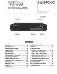 Manual de servicio Kenwood TKR-750