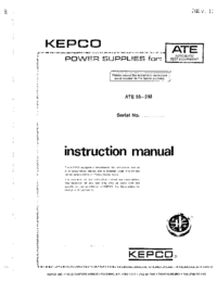 Manual del usuario Kepco ATE 55—2 M