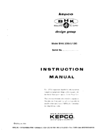 Kepco-7032-Manual-Page-1-Picture