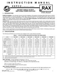 Datenblatt Kepco RAX 48-6K