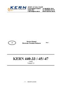 Instrukcja serwisowa Kern 440-45