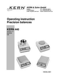 User Manual Kern 440-21N