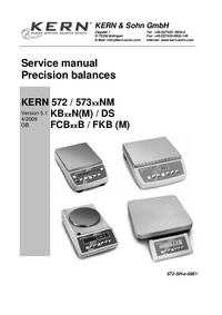 Manual de servicio Kern FKB (M) series