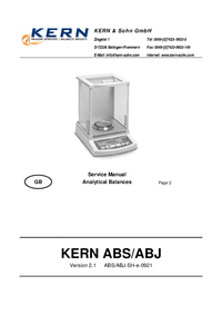 Service Manual Kern ABJ