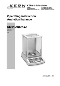 User Manual Kern ABJ 120-4M