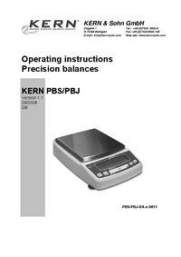 User Manual Kern PBS 8200-1M
