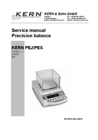 Manual de servicio Kern PEJ