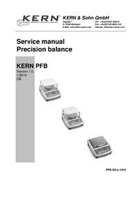 Instrukcja serwisowa Kern PFB
