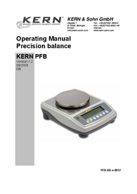 Manual del usuario Kern PFB 2000-2