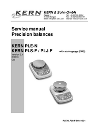 Manual de servicio Kern PLS 310-3F