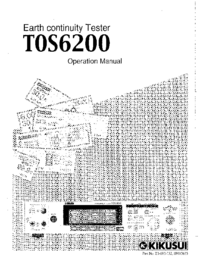 User Manual Kikusi T0S 6200