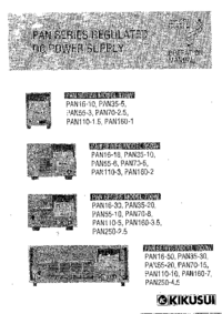 Manual del usuario Kikusi PAN70-5