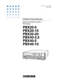 User Manual Kikusi PBX40-2.5