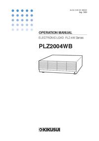 Instrukcja obsługi Kikusi PLZ2004WB