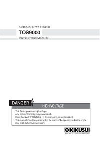 User Manual Kikusi TOS9000