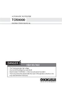 Manuel de l'utilisateur Kikusi TOS9000